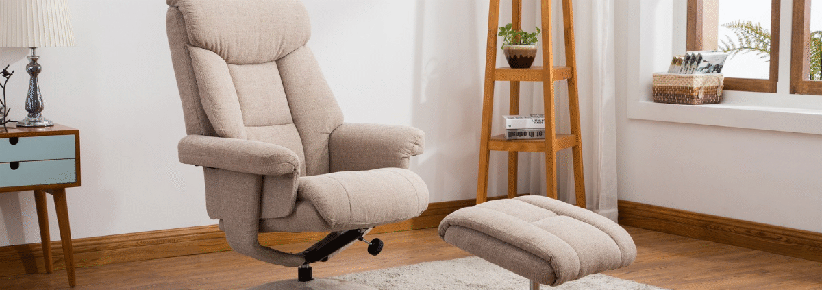 Group banner fabric swivel chairs