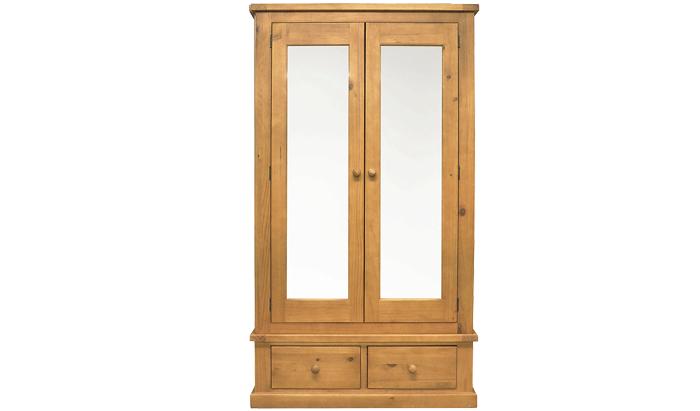 2 Door Mirrored Combi Wardrobe