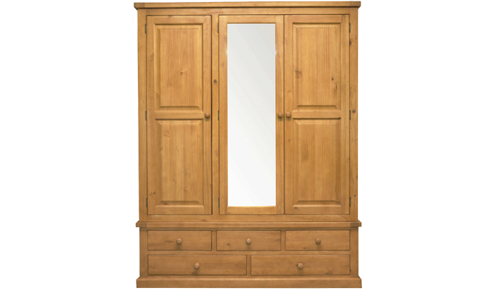 3 Door Mirrored Combi Wardrobe