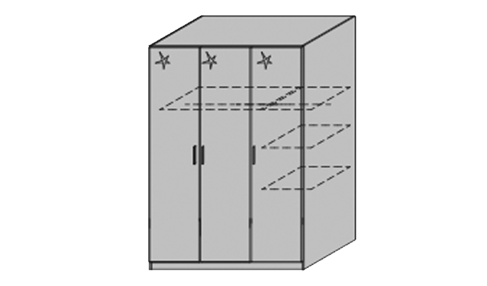 3 Door Wardrobes