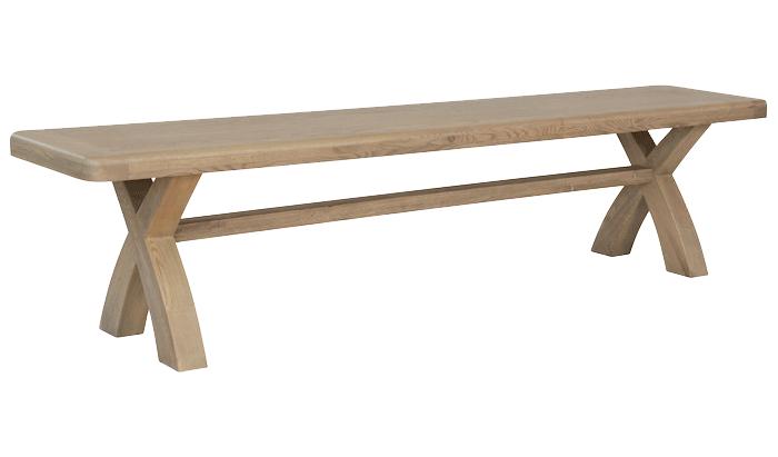 2m Cross Leg Dining Bench