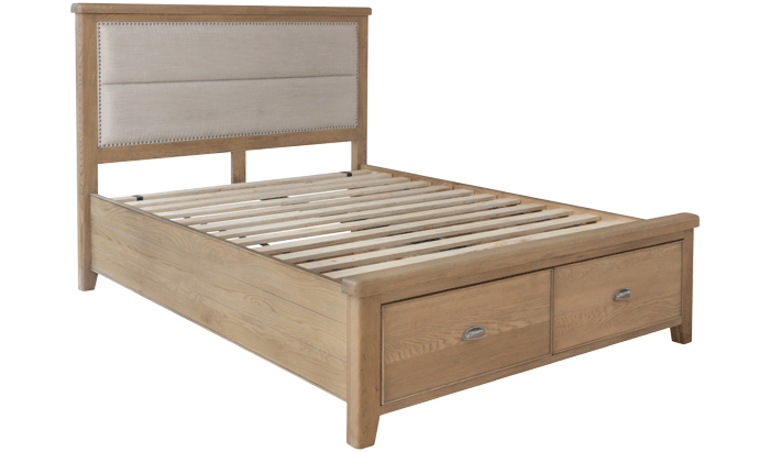 Double Bedstead - Fabric Head / Drawer End