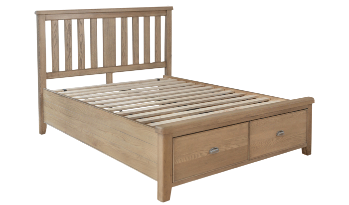 Double Bedstead - Wood Head / Drawer End