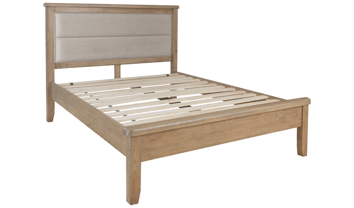 Kingsize Bedstead - Fabric Head / Low Foot End