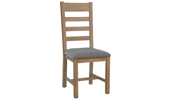 Slatted Dining Chair (Grey Check)