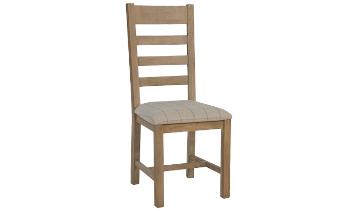 Slatted Dining Chair (Natural Check)