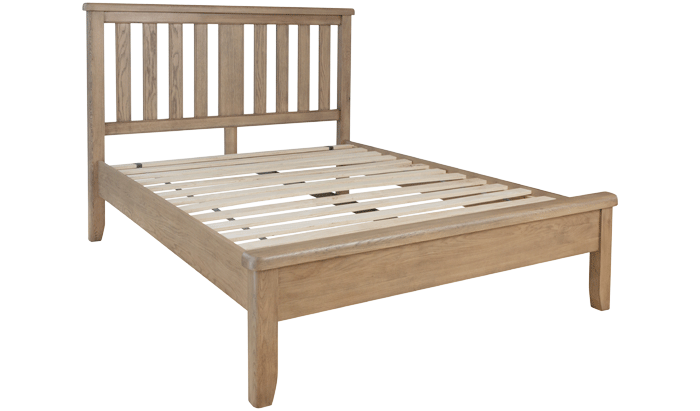 Super Kingsize Bedstead - Wood Head / Low Foot End