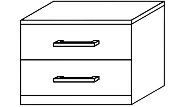 2 Drawer Bedside