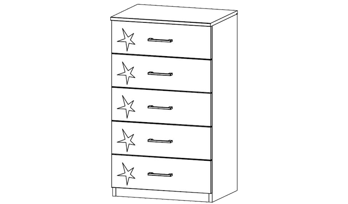 5 Drawer Narrow Chest