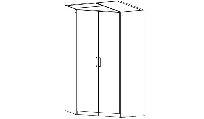 Double Corner Wardrobe