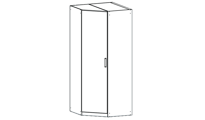 Single Corner Wardrobe