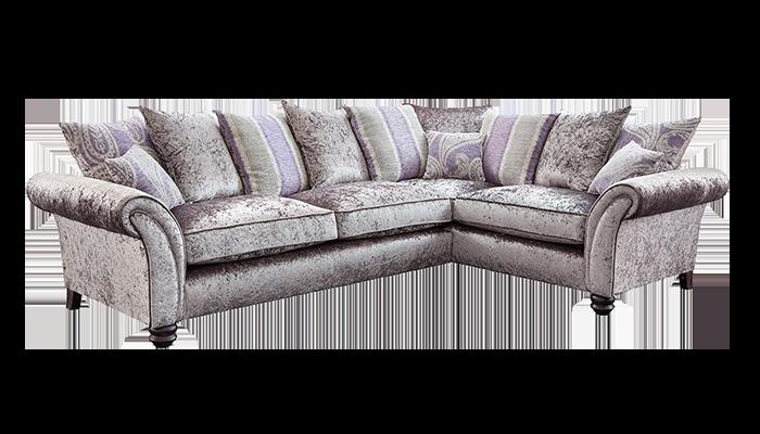 Large Corner Sofa Pillow Back