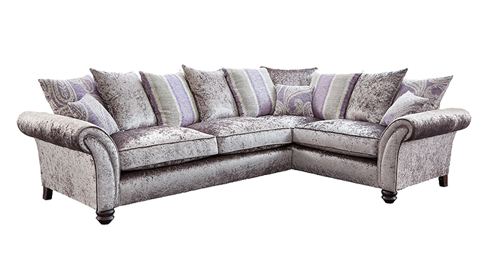 Small Corner Sofa Pillow Back